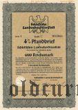 Schlesische Landeskreditanstalt, Breslau, 1000 reichsmark 1944