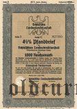 Schlesische Landeskreditanstalt, Breslau, 1000 reichsmark 1939