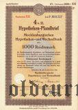 Mecklenburgischen Hypotheken- und Wechselbank, 1000 reichsmark 1941