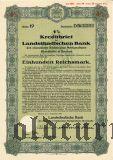 Landstandischen Bank, Bautzen, 100 reichsmark 1940