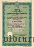 Frankfurter Hypothekenbank, 1000 reichsmark 1942