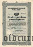 Mitteldeutsche Landesbankanleihe, Magdeburg, 10.000 рейхсмарок 1942