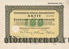 Elektrizitatswerk Schlesien Aktiengesellschaft, Breslau, 100 reichsmark 1926