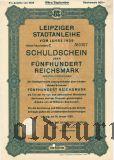 Leipziger Stadtanleihe, 500 reichsmark 1929