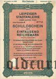 Leipziger Stadtanleihe, 1000 reichsmark 1929