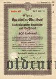 Mecklenburgischen Hypotheken- und Wechselbank, 100 reichsmark 1938