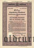 Westdeutschen Bodenkreditanstalt in Köln, 500 reichsmark 1939