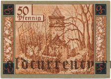 Вунзидель (Wunsiedel), 50 пфеннингов 1918 года. Вар. 2