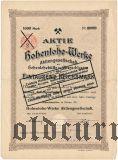 Hohenlohe-Werke, 1000 reichsmark 1911
