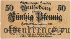 Хаслах (Haslach), 50 пфеннингов 1917 года