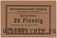 Ортенбург (Ortenburg), 25 пфеннингов 1919 года. Вар. 2
