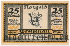 Штольценау (Stolzenau), 25 пфеннингов 1921 года