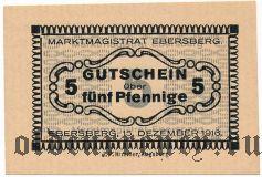 Эберсберг (Ebersberg), 5 пфеннингов 1916 года. Вар. 2
