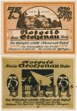 Штольценау (Stolzenau), 2 нотгельда 1921 года