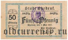Ордруф (Ohrdruf), 50 пфеннингов 1917 года