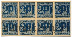 Пассау (Passau), 2 пфеннинга (1921) года. Сцепка из 8 шт.