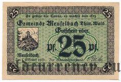 Мойзельбах (Meuselbach), 25 пфеннингов 1920 года