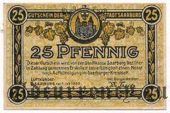 Саарбург (Saarburg), 25 пфеннингов 1920 года