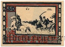 Олау (Ohlau), 50 пфеннингов 1921 года. Вар. 1