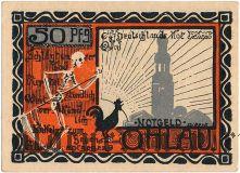 Олау (Ohlau), 50 пфеннингов 1921 года. Вар. 5