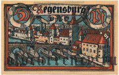 Регенсбург (Regensburg), 50 пфеннингов 1918 года. Вар. 2