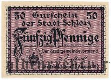Шлайц (Schleiz), 50 пфеннингов 1919 года