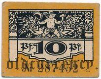 Плауэн (Plauen), 10 пфеннингов 1921 года. Вар. 2