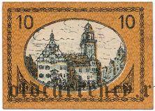 Плауэн (Plauen), 10 пфеннингов 1919 года. Вар. 1