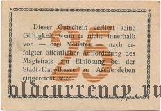 Ашерслебен (Aschersleben), 25 пфеннингов 1917 года