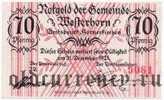 Вестерхорн (Westerhorn), 70 пфеннингов 1921 года