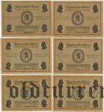 Веймар (Weimar), 6 нотгельдов 1921 года