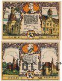 Нойруппин (Neuruppin), 50 пфеннингов 1921 года. 2 шт.