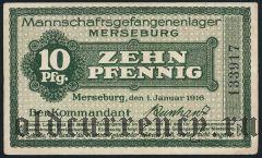 Германия, Merseburg, 10 пфеннингов 1916 года