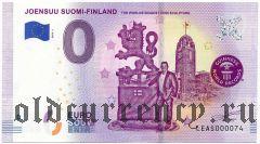 Финляндия, 0 евро 2019 года + рекламный листок с автографом Тимо Руотсалайнена