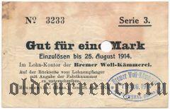 Блументаль (Blumenthal), 1 марка 1914 года