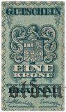 Австро-Венгрия, Braunau, 1 крона 1915 года. № 000001