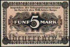 Германия, Frankfurt am Main, 5 марок 1917 года