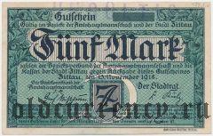 Циттау (Zittau), 5 марок 1918 года