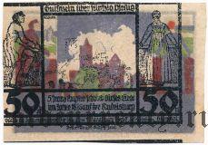 Рудельсбург (Rudelsburg), 50 пфеннингов. Типографский Брак