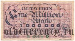 Аннаберг (Annaberg), 1.000.000 марок 1923 года