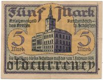 Райхенбах в Силезии (Reichenbach in Schlesien), 5 марок 1919 года