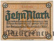 Райхенбах в Силезии (Reichenbach in Schlesien), 10 марок 1919 года