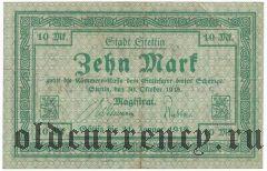 Штеттин (Stettin), 10 марок 1918 года