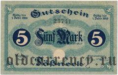 Пёснек (Pössneck), 5 марок 1919 года