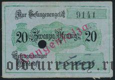 Германия, Langensalza, 20 пфеннингов (на ткани)