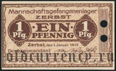 Германия, Zerbst, 1 пфеннинг 1916 года. Образец