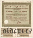 Калининград (Königsberg) Восточная Пруссия, 5 1/2% Сельскохозяйственная Ипотека, 500 goldmark 1935