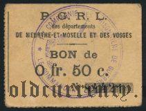 Франция, De Meurthe-Et-Moselle Et Des Vosges, 50 сантимов