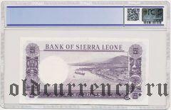 Сьерра-Леоне, 5 леоне (1964) года. В слабе PCGS 45
