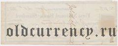 США, First National Bank of Stamford, чек на 85 долларов 1873 года
